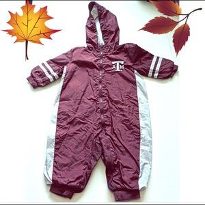 Texas A&M Baby Windbreaker Jumpsuit Onesie 12 mo